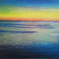 Arambol evening - acrilico su tela / acrylic on canvas, cm 70x100  (2012)