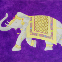 Elephant - acrilico su tela / acrylic on canvas, cm 70x100  (2014)